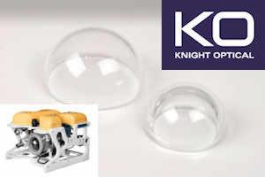 Custom Domes for Protective Housing for Drone Cameras - Optically clear &  manufactured  for  Drone & Vision system cameras & CCTV