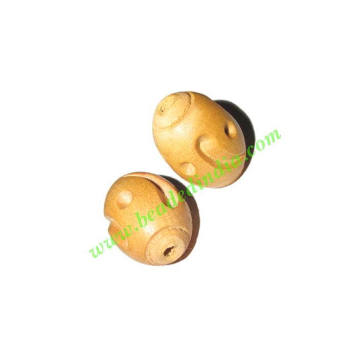 Natural Color Wooden Beads, size 15x21mm, weight approx 1.69 - Natural Color Wooden Beads, size 15x21mm, weight approx 1.69 grams