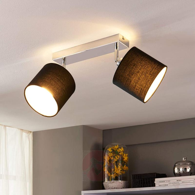 Lovely fabric ceiling lamp with E14 LED lamps - indoor-lighting