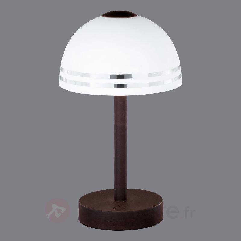 Lampe à poser FABIANA interrupteur tactile - Lampes à poser rustiques