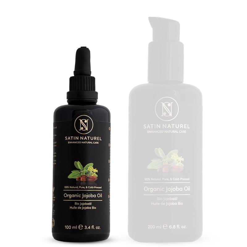 Organic Jojoba Oil Vegan, Cold-pressed + 100% Pure, 100ml  - Skin Care rich in Vitamin E for Soft Skin & Hair & Healthy Nails