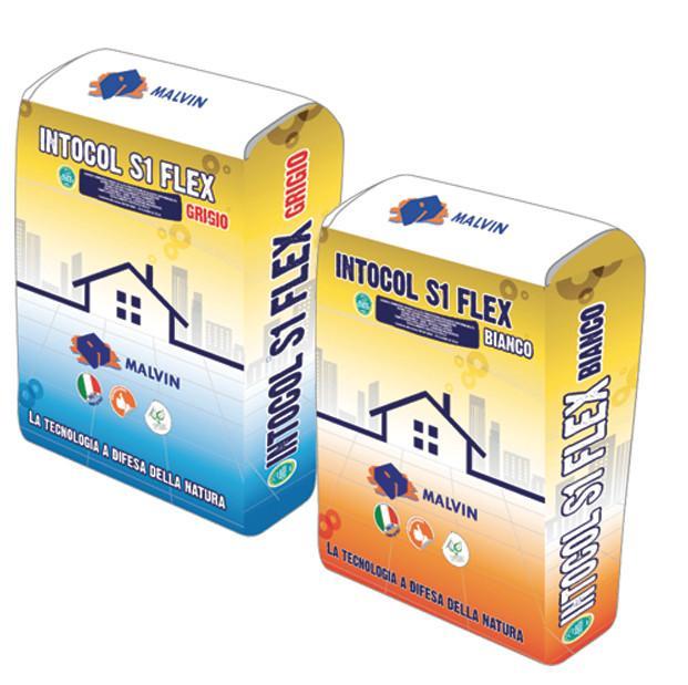 INTOCOL S1 FLEX Adesivo premiscelato  -  DI CLASSE C2 TE S1 • Conforme alla norma UNI EN 12004