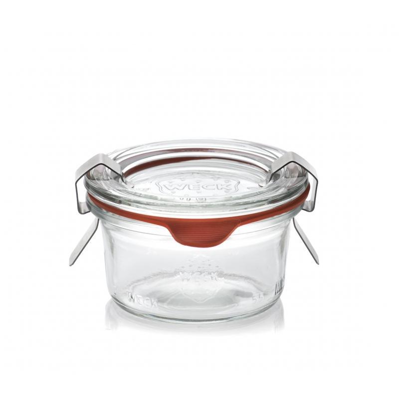 12 Bocaux Droits 50 ml WECK avec couvercles et joints (clips non inclus) - Bocaux Weck DROIT®