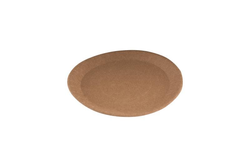 """""""Kraft"""" crimped-paper plates - Kraf-paper plate for food"""