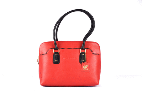 Front stitched styled women's leather handbags