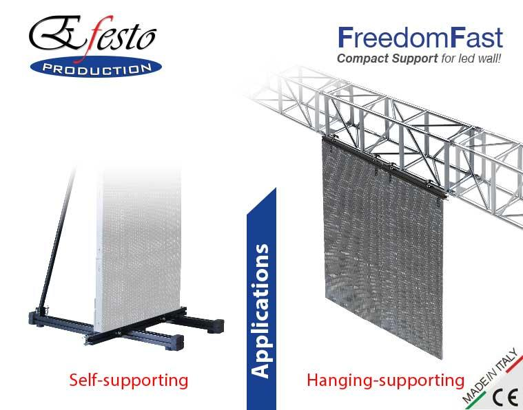 FreedomFast - FreedomFast is compact support for ledwall that enters into flight case!