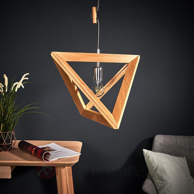 Suspension Trigonon en bois - Suspensions en bois