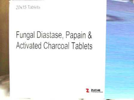 Fungal Diastase Papain and Activated Charcoal Tablets