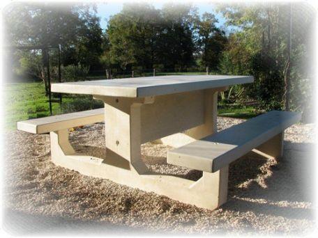Table Rectangle Béton - Tables De Pique-Nique