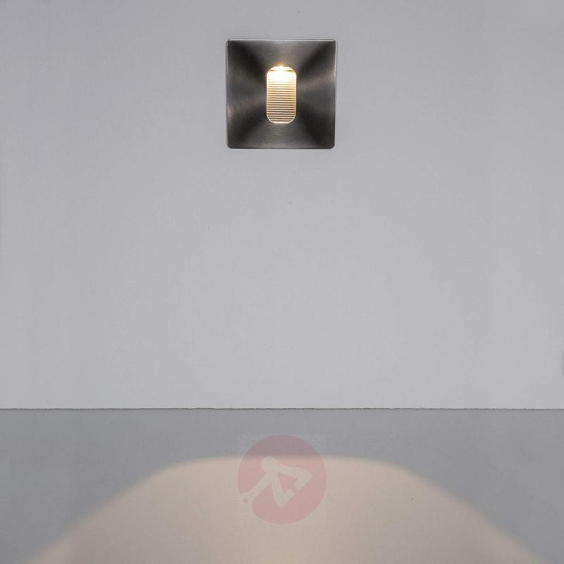 Rectangular installed LED wall light Telke, IP65 - stainless-steel-outdoor-wall-lights