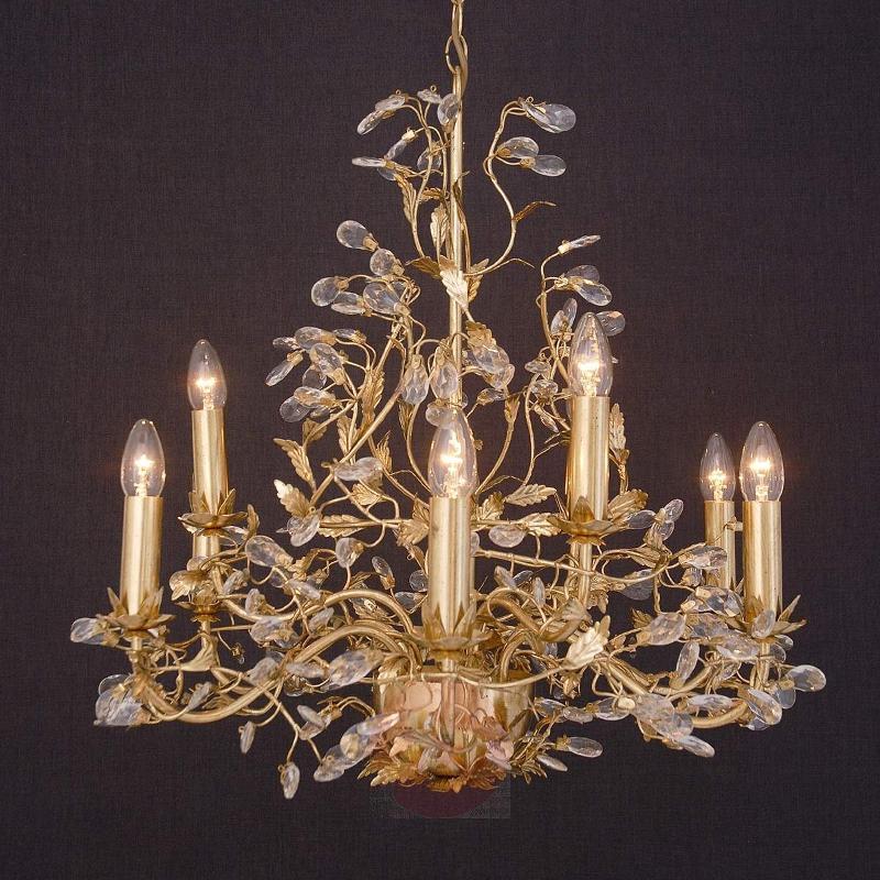 Precious chandelier Buono 9-bulb, gold - Chandeliers