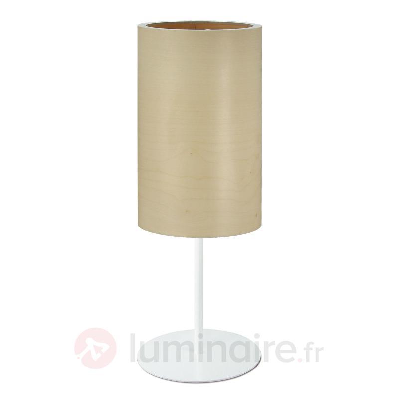 Lampe à poser Funk en placage érable - Lampes à poser en bois