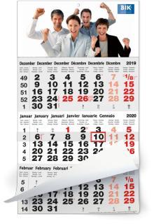 3 Maandkalender - 3 Maandkalender classic grijs - Duitse uitgave