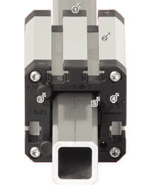 torque resistant square linear guide  - drylin® Q Square linear guides