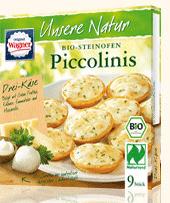 9 piccolinis trois fromages - Biologiques et surgelés