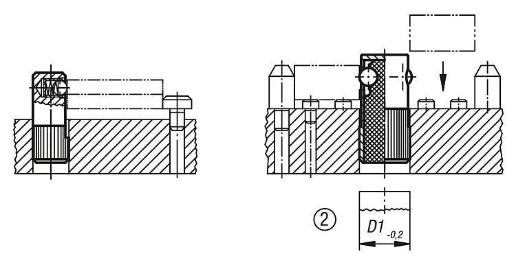 Poussoir latéral à bille - Poussoirs latéraux à ressort