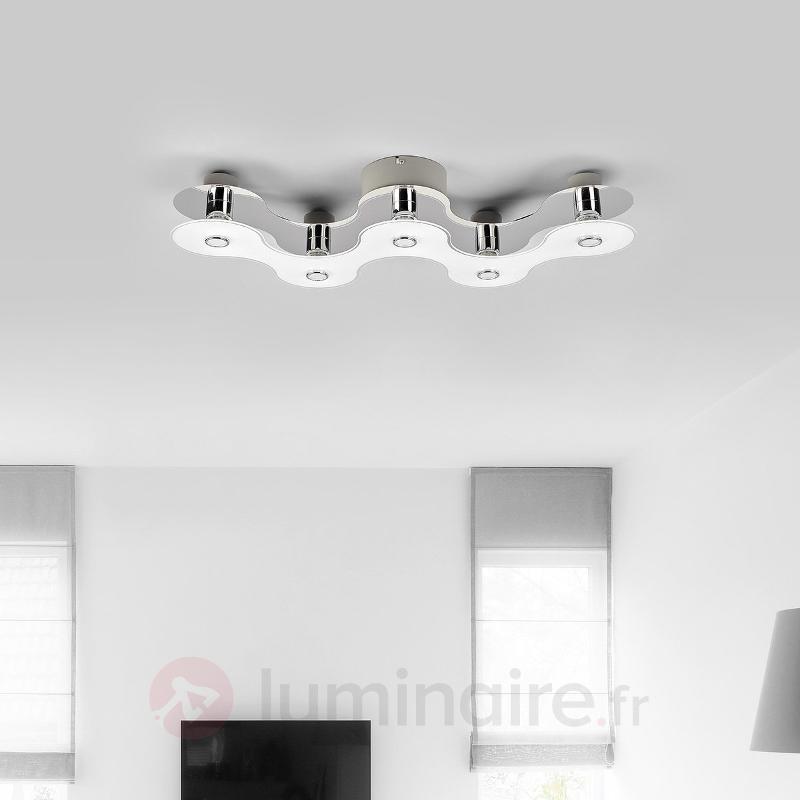Plafonnier LED Sondra à l'allure futuriste - Plafonniers LED