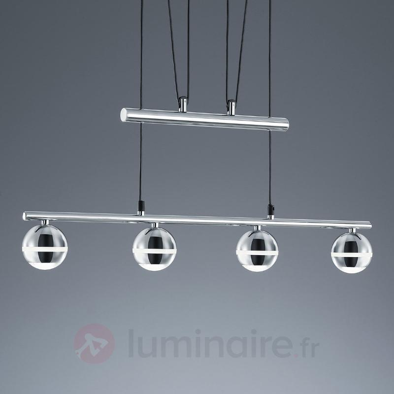 Suspension LED Ada à 4 lampes, hauteur réglable - Suspensions LED
