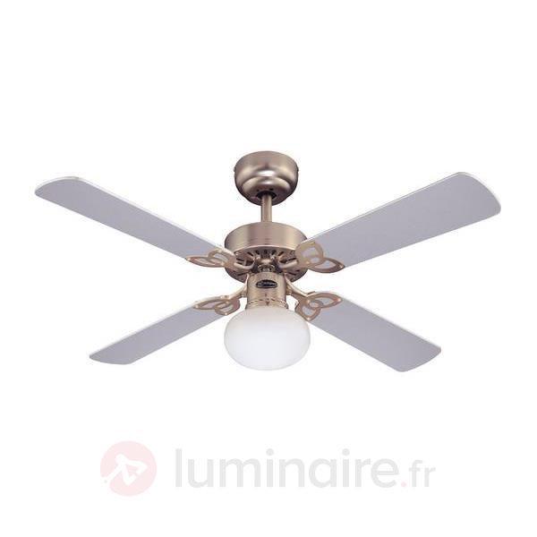 Ventilateur de plafond lumineux VEGAS, Aluminium - Ventilateurs de plafond lumineux