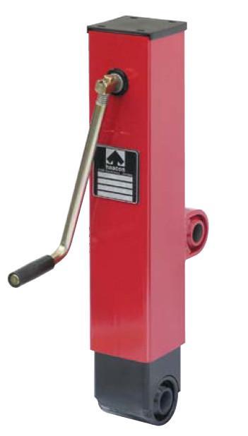 Cric de mise en hauteur S/DZ600 - Spindle support for comfortable levelling of drawbar, load 2 t, static load 5 t