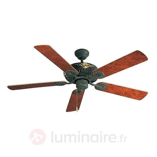 Ventilateur de plafond Amadeo II racine de noyer - Ventilateurs de plafond