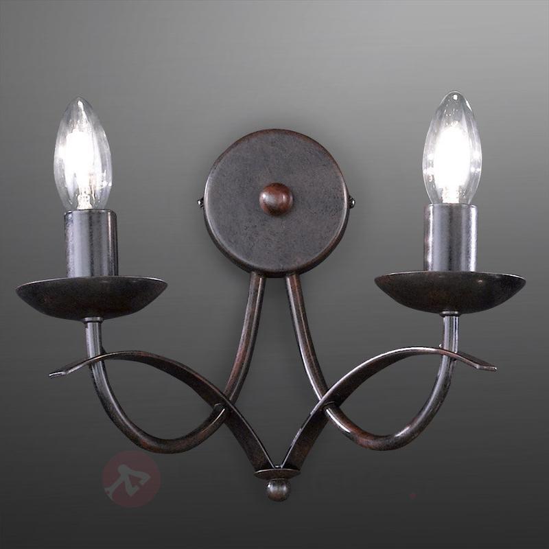 Applique à deux lampes Hannes - Appliques rustiques