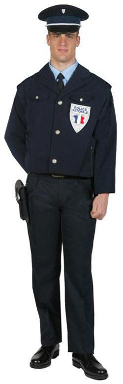 BLOUSON POLICE TISSU POLY/COTON LEGER - null