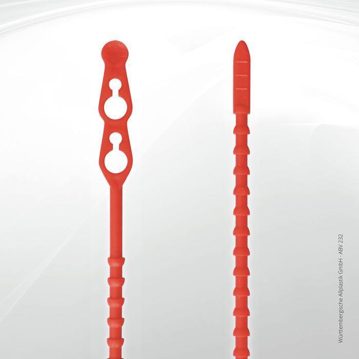 Allplastik-Blitzbinder® quick fastening cable ties - ABV® 232 (red)