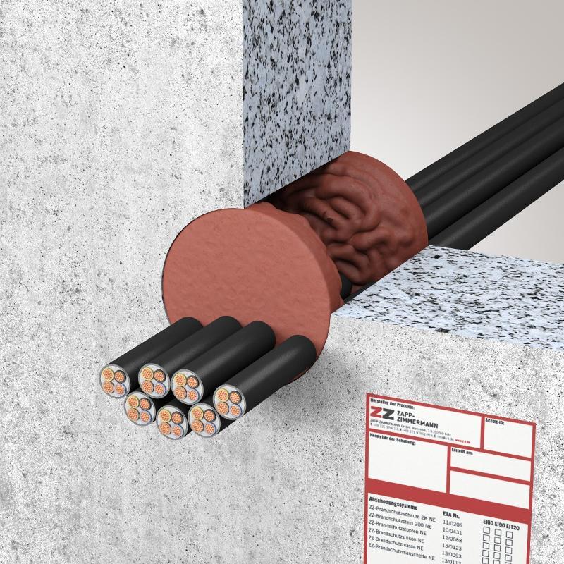Abschottungssysteme Kabelabschottung - System ZZ-Brandschutzmasse NE
