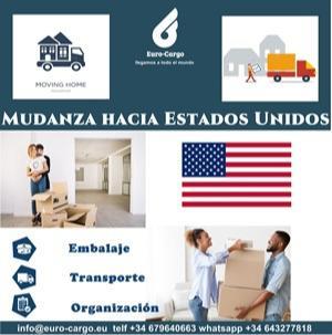 Mudanzas a Estados Unidos - Desde España