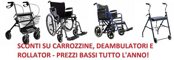 Sedia a rotelle pieghevole - Sedie a rotelle a singola ed a doppia crociera in acciaio ed in alluminio