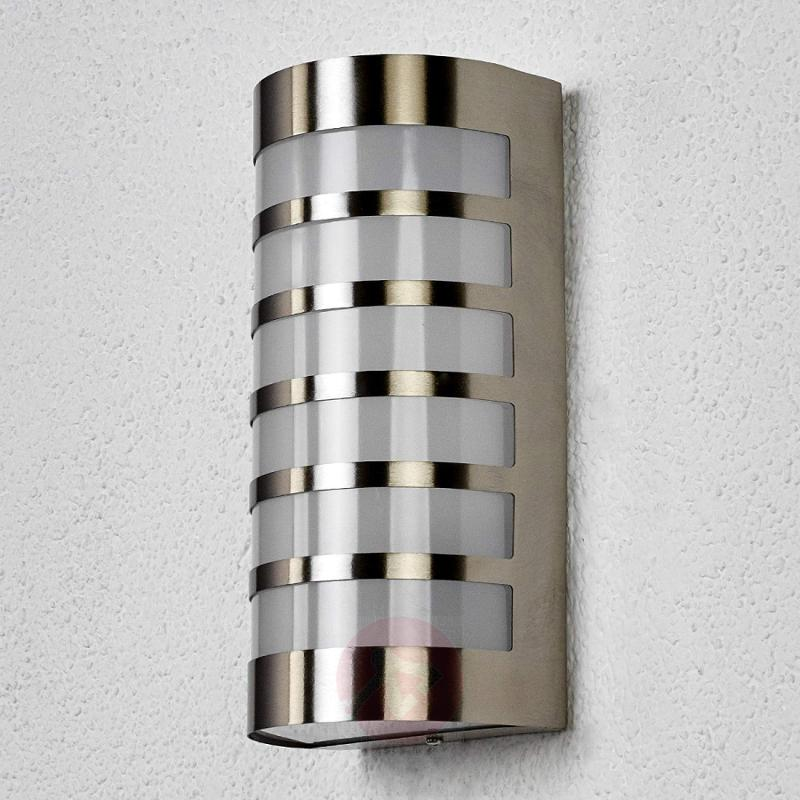 Graceful stainless steel outdoor wall light Alvin - stainless-steel-outdoor-wall-lights