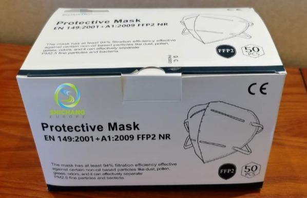 FFP2 CDC14 - Protective Mask EN149:2001 + A1:2009 FFP2 NR PFE >94% FFP2 CDC14