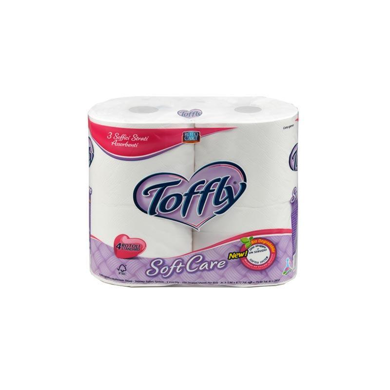 Carta Igienica Toffly Soft Care - Toffly Soft Care 3 veli