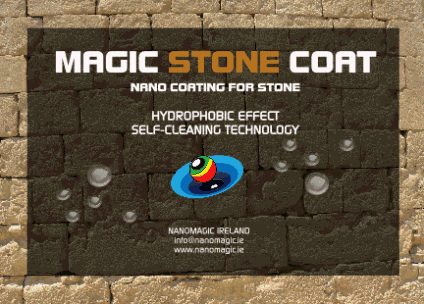 MAGIC STONE COAT - Hydrophobic nano coating for absorbent stone and absorbent mineral surfaces