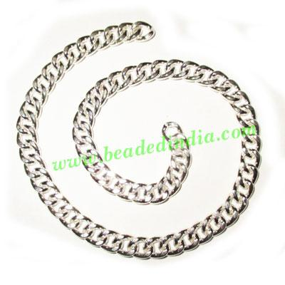 Silver Plated Metal Chain, size: 2x7mm, approx 10.4 meters i - Silver Plated Metal Chain, size: 2x7mm, approx 10.4 meters in a Kg.