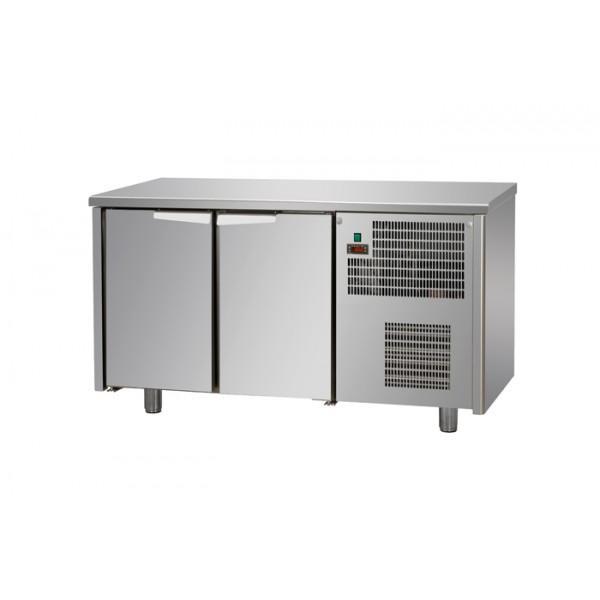 Tables réfrigérées 2 portes inox sans dosseret