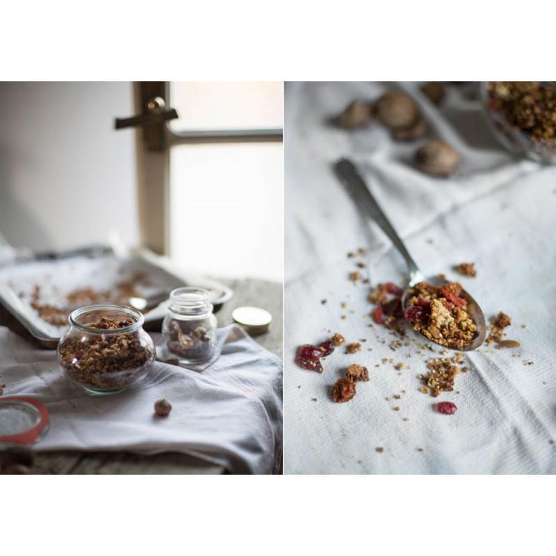Tarros WECK FÊTE® - 6 tarros en vidrio Weck Fête® 560 ml con tapas en vidrio y gomas (clips no