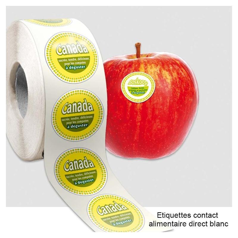 Étiquettes contact alimentaire direct - Étiquettes spéciales