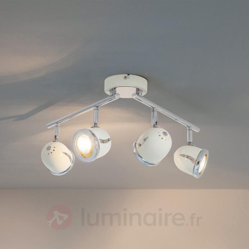 Plafonnier GU10 allongé Halena, à quatre lampes - Tous les spots et projecteurs