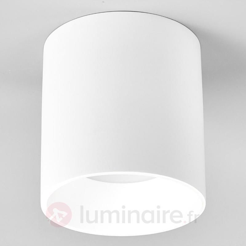 Emia - plafonnier LED en plâtre, forme ronde - Plafonniers LED