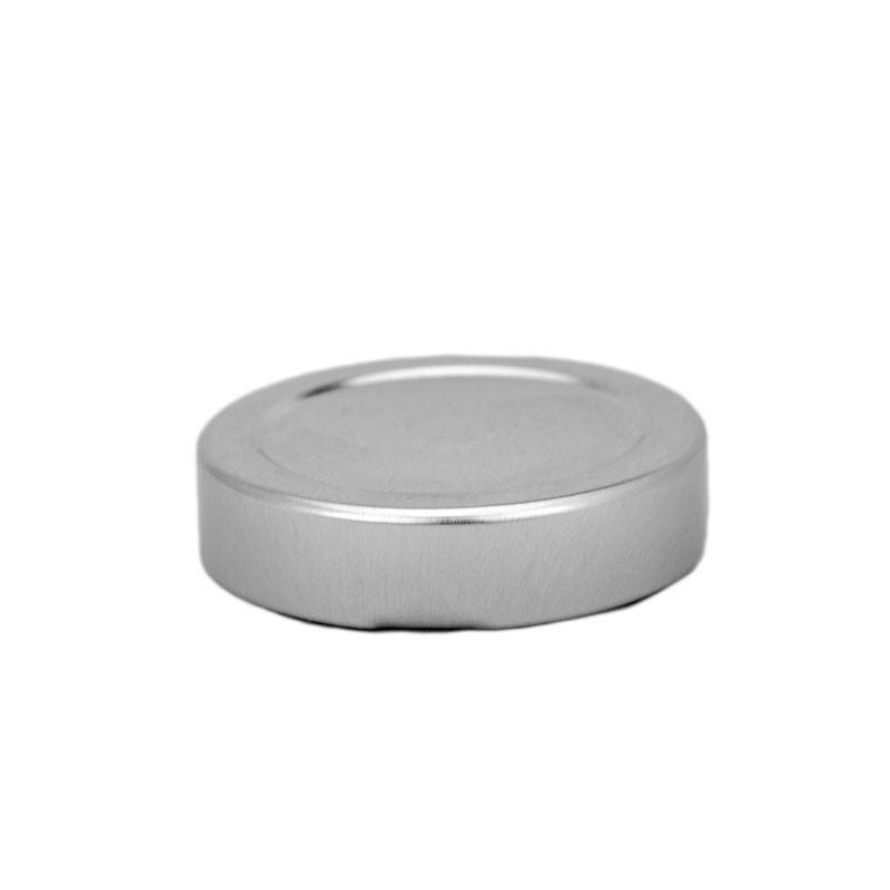 10 caps DEEP Ø 70 mm Silver Color for pasteurization - CAPS DEEP