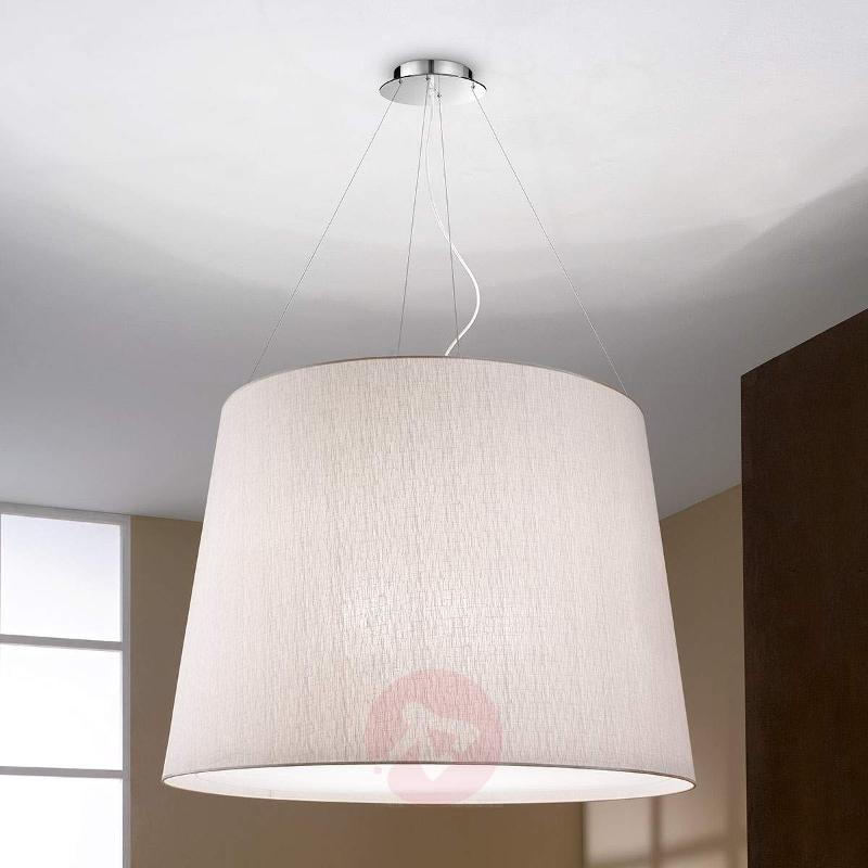 Nora Hanging Light Large With Fabric Shade Pendant Lighting
