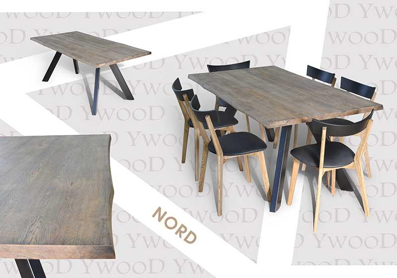 """Table """"Nord"""" - Solid wood table with natural edges"""