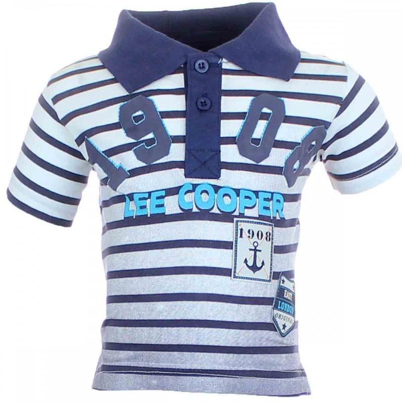 8x Polos manches courtes Lee cooper du 2 au 5 ans - T-shirt et polo manches courtes