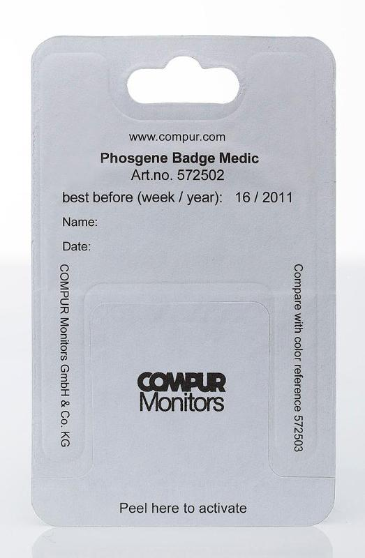 Phosgene Indicator Badge MEDIC - null