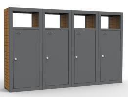 Litter bin for separatecollection of waste «Box» - Litter bin | Trash can