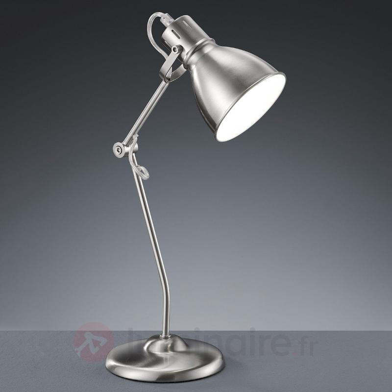 Lampe à poser Keali nickel mat, hauteur ajustable - Lampes de bureau