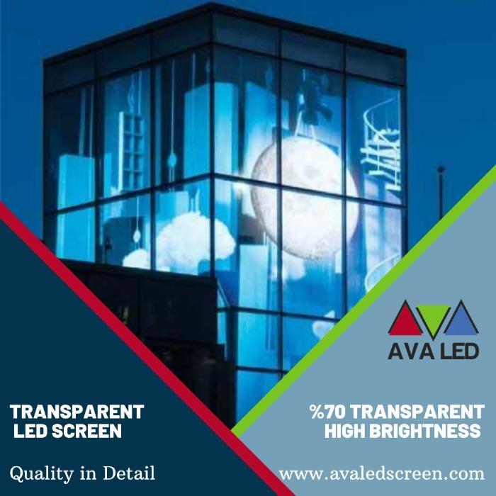 Prozorna LED plošča - Prozoren LED-zaslon AVA, ki se uporablja za obloge stavb