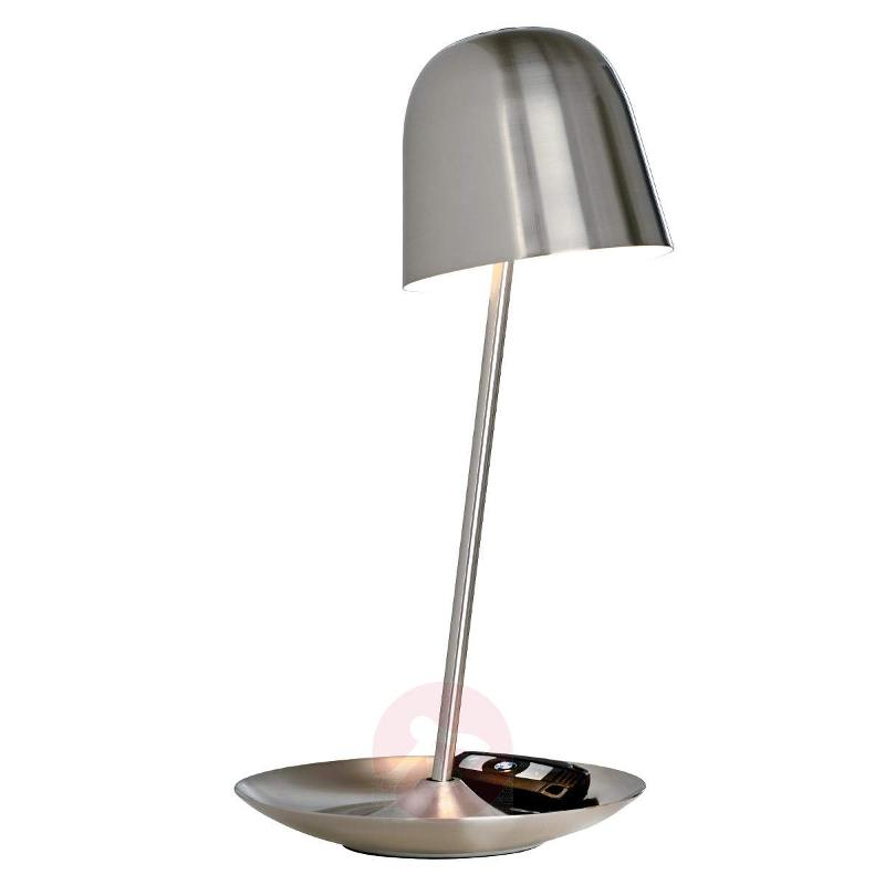 LED table lamp Pirol satin-finished metal - Table Lamps